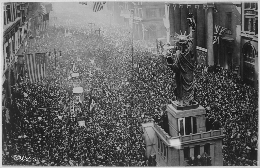 Armistice celebration in Philadelphia, Pennsylvania, Nov. 11, 1918