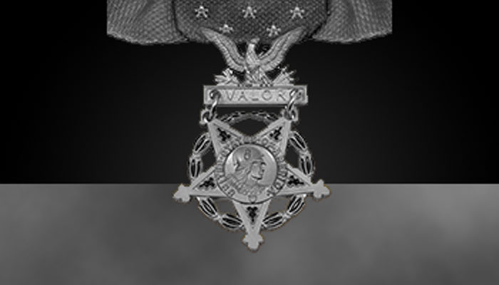 Army Medal of Honor (greyscale)